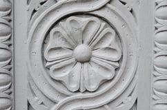 Скульптура цветка каменная Стоковое Изображение