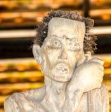 Скульптура человека с животными волосами Стоковое фото RF