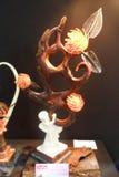 Скульптура шоколада на теме влюбленности Стоковое Изображение