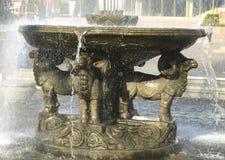 Скульптура штосселей в фонтане Kyzyl стоковое фото