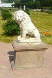 Скульптура льва Диаграммы Sheremetevs Москва Россия усадеб Стоковое фото RF