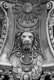 Скульптура льва Стоковое Изображение RF
