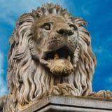 Скульптура льва Стоковая Фотография