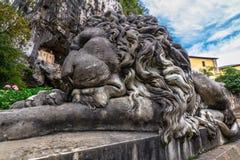 Скульптура льва Covadonga Стоковое Фото