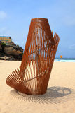 Скульптура экспонатом моря на Bondi Австралии Стоковое Изображение