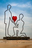 Скульптура любовников Стоковые Изображения