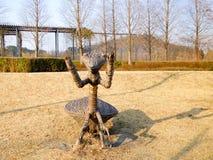 Скульптура Mantis ботаническая Стоковое Изображение