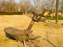 Скульптура Mantis ботаническая Стоковые Изображения RF