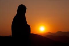 Скульптура Mary в Medjugorje Герцеговине Стоковые Изображения RF
