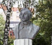 Скульптура n V Портрет Gogol в парке Muzeon, бронзе стоковые фотографии rf