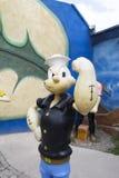 Скульптура Popeye Стоковое Изображение