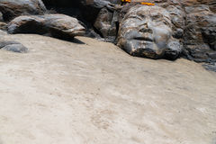 Скульптура Shiva на пляже Goa Индии стоковые фотографии rf