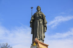 Скульптура tzarina Ekaterina II в Краснодаре Детали металла Стоковые Фото