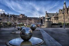 Скульптурная группа в центре Шеффилда Стоковая Фотография