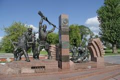 Скульптурные герои состава границы, женщин и детей в бессмертности их смелости ушли мемориальный комплекс стоковые фото