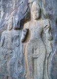 Скульптурный портрет камня Стоковое Изображение
