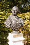 Скульптурный портрет польского короля Stanislaw Poniatowski -го августа Стоковое фото RF