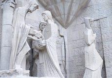 Скульптурный состав белого камня Стоковые Изображения RF