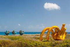 Скульптуры в парке Punta Sur стоковая фотография rf