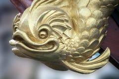 Скульптуры и украшение на сосуде пирата Стоковые Фотографии RF