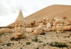 Скульптуры королевства Commagene, гора Nemrut Стоковые Изображения