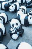 Скульптуры панды руки делают Стоковые Изображения