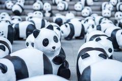 Скульптуры панды руки делают Стоковое Изображение