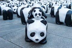 Скульптуры панды руки делают Стоковая Фотография