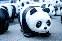 Скульптуры панды руки делают Стоковое фото RF