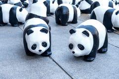 Скульптуры панды руки делают Стоковая Фотография RF