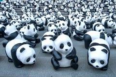 Скульптуры панды руки делают Стоковые Изображения RF