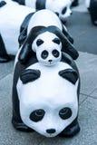 Скульптуры панды руки делают Стоковые Фотографии RF