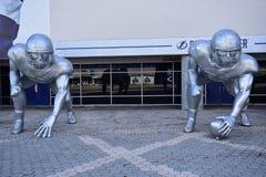 Скульптуры серии игр футбола коллежа Стоковое Изображение