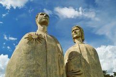 Скульптуры художника Bassano Vaccarini на городе polis ³ AltinÃ, положении São Paulo, Бразилии стоковое фото