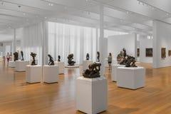 Скульптуры Rodin коллекции произведений искусства кантора в Северной Каролине Стоковое Изображение RF