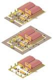 Склад продукции вектора равновеликий низкий поли бесплатная иллюстрация