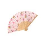 Складчатость античного вентилятора японская на белой предпосылке стоковые изображения rf