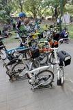 Складывая велосипед стоковое фото rf