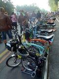 Складывая велосипед Стоковое Изображение RF