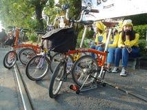 Складывая велосипед Стоковая Фотография