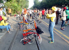 Складывая велосипед Стоковые Изображения RF