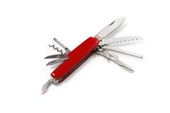 Складывая нож на белой предпосылке Стоковая Фотография RF