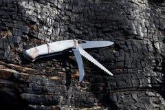 Складывая универсальный нож с различными краями Стоковое Изображение RF