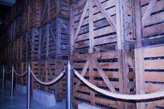 Склады в винных погребах стоковое изображение rf