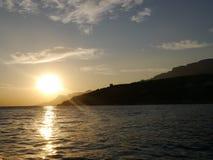 склонение над морем Стоковые Изображения