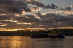 Склонение на реке Стоковые Изображения