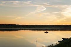 Склонение на реке Стоковая Фотография