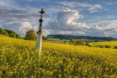 Склонный крест Стоковое Изображение