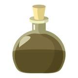 Склянка зелья Иллюстрация шаржа алхимика или beaker волшебства зелья Стоковые Фото