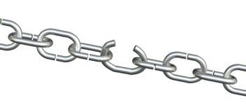 слабая звена цепи открытая Стоковое фото RF